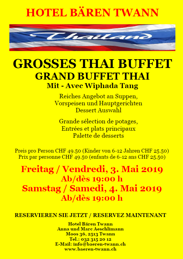 THai Buffet MAi 2019