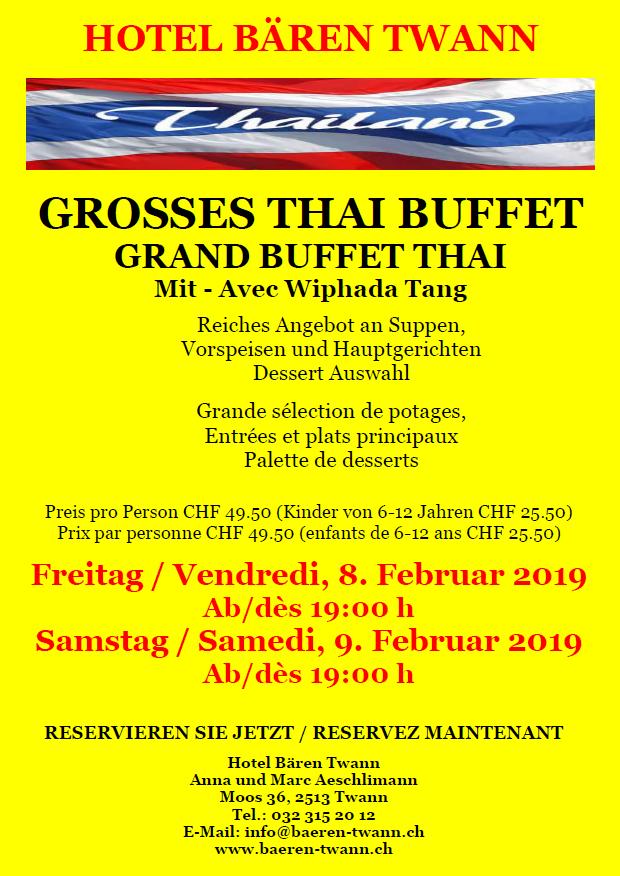 Thai Buffet FEBRUAR 2019