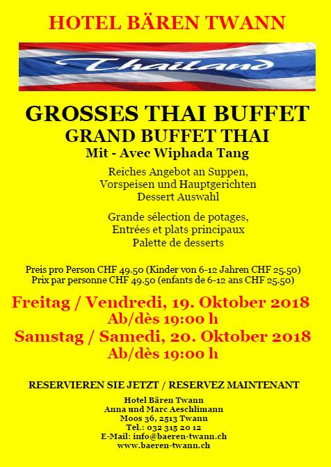 Thai Buffet Oktober 2018