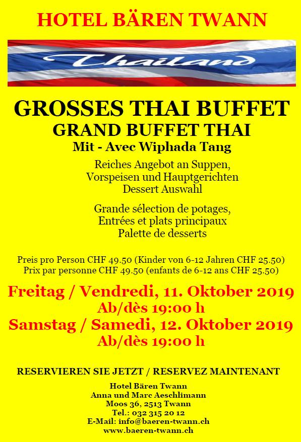Thai Buffet Oktober 2019